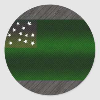 Modern Stripped Vermont flag Classic Round Sticker