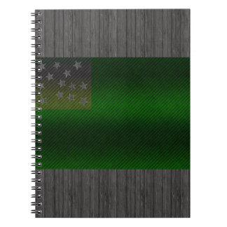 Modern Stripped Vermont flag Notebook
