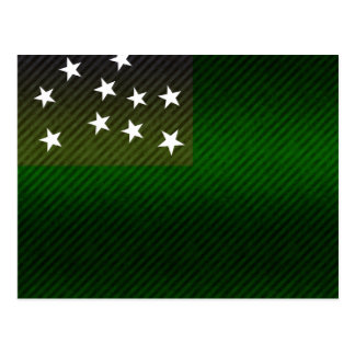 Modern Stripped Vermont flag Postcard