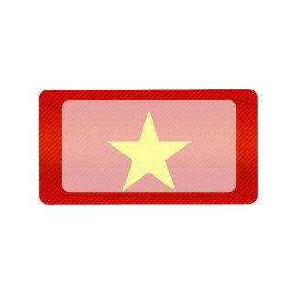 Modern Stripped Vietnamese flag Address Label