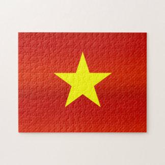 Modern Stripped Vietnamese flag Jigsaw Puzzle