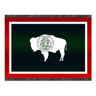 Modern Stripped Wyomingite flag Postcard