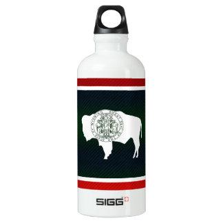Modern Stripped Wyomingite flag Water Bottle