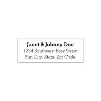 Modern Style 3-Line Custom Address Stamp