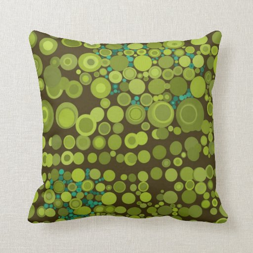Modern Style Abstract Dots Earthy Green Cushions