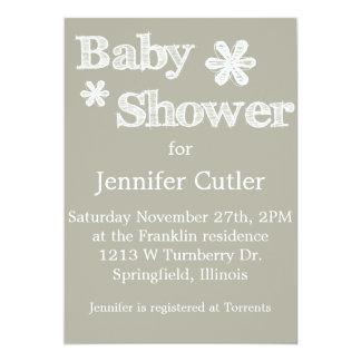 Modern Style Baby Shower Invitations