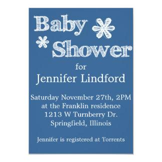 Modern Style Blue Baby Shower Invitations