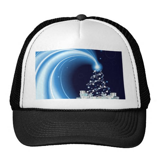 Modern style Christmas tree background Trucker Hat
