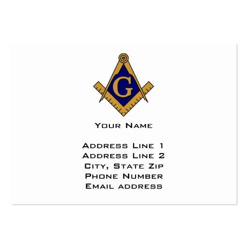 Modern style freemason business card zazzle for Freemason business cards