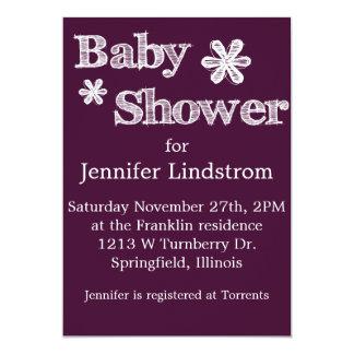 Modern Style Maroon Baby Shower Invitation