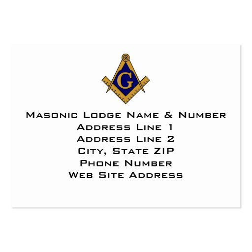 Masonic business card templates page2 bizcardstudio for Freemason business cards
