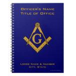 Modern Style Masonic Lodge Officer's Notebook