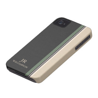 Modern Style Olive Stripes iPhone4 Case-Mate™ iPhone 4 Case