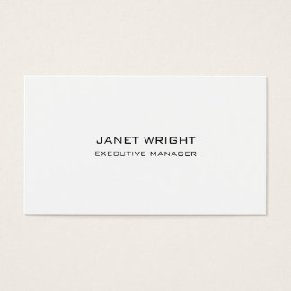 Modern Style Plain Simple Black White Professional Business Card