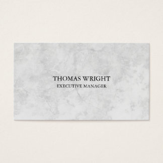 Modern Style Plain Simple Grey Professional Business Card