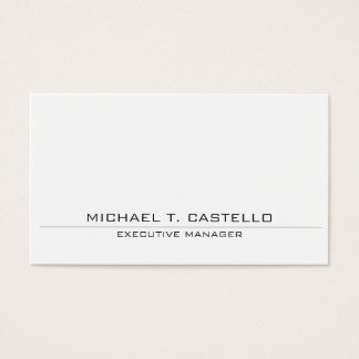 Modern Style Plain Simple White Professional Business Card