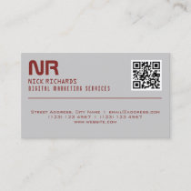 Modern style professional red gray business card
