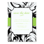 """Modern Style Trendy Save The Date Announcement 5"""" X 7"""" Invitation Card"""