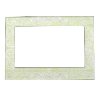 Modern Style Vintage Damask Lace Look - Green Picture Frame Magnet