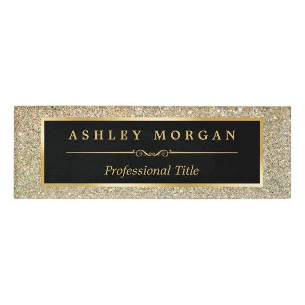 Modern Stylish And Fashionable Beauty Gold Glitter Name