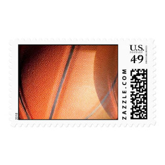 Modern Stylish Basketball Postage Stamp