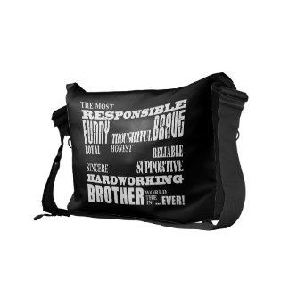 Modern Stylish Best & Greatest Brothers  Qualities Messenger Bag