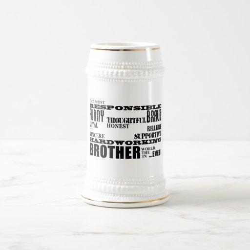 Modern Stylish Best & Greatest Brothers  Qualities Mug