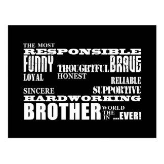 Modern Stylish Best & Greatest Brothers  Qualities Postcard