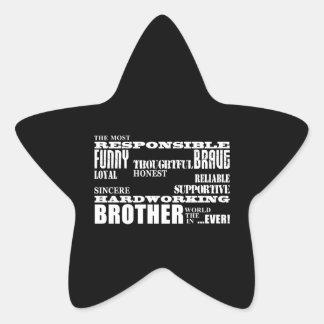 Modern Stylish Best & Greatest Brothers  Qualities Star Sticker
