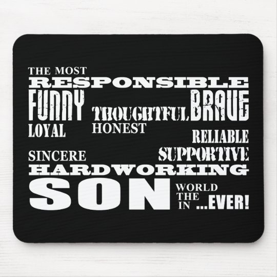 Modern Stylish Best & Greatest Sons : Qualities Mouse Pad