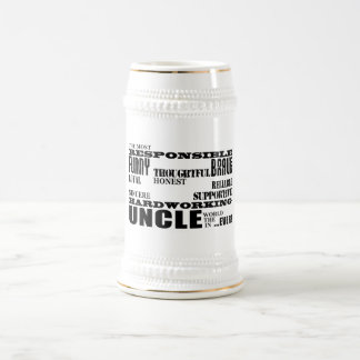 Modern Stylish Best & Greatest Uncles : Qualities Beer Stein