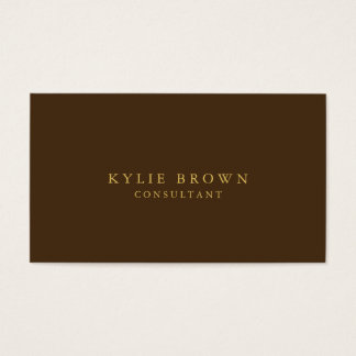 Modern Stylish Brown Gold Professional Trendy Business Card