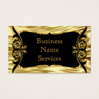 Modern Stylish Business Deco Gold Black Business Card