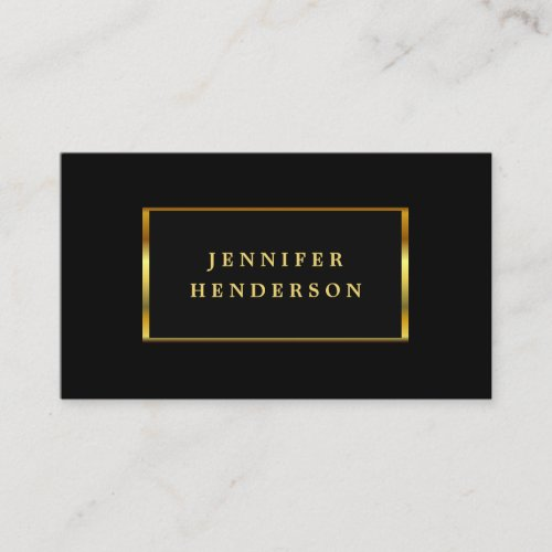 Modern stylish chic black and gold professional business card