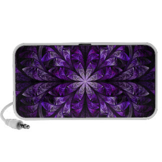 Modern Stylish Chic Elegant Royal Purple Fractal Travel Speaker