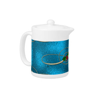 Modern & Stylish Christmas Swirls Teapot