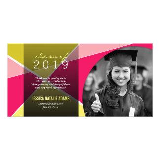 Modern Stylish Criss Cross Graduation Thank You Card