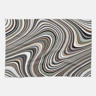 Modern Stylish Curvy Abstract Pattern Hand Towel