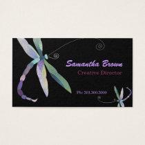 Modern Stylish Dragonfly Designer Business Cards