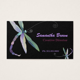 Modern Stylish Dragonfly Designer Business Cards