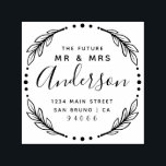 """Modern Stylish Future Mr & Mrs Return Address Self-inking Stamp<br><div class=""""desc"""">Create your own Modern Stylish Future Mr & Mrs Return Address rubber stamp using this template designed for you by Rubber Stamps. Perfect for any soon to be married couple looking to add their own personal touch to their correspondence. Add your details quickly and easily using the """"personalize this template""""...</div>"""