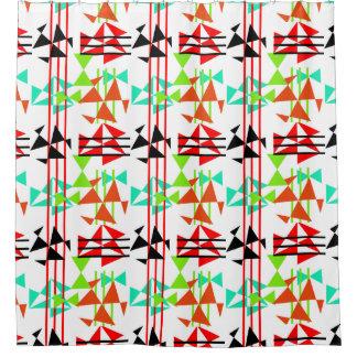 Modern Stylish Geometric Colorful Shower Curtain