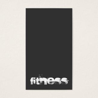 Modern Stylish Gray Fitness Sport Business Card