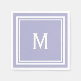 Modern Stylish Lavender Custom Monogram Napkin