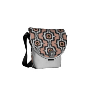 Modern Stylish Moroccan Style Repeat Patterned Messenger Bag