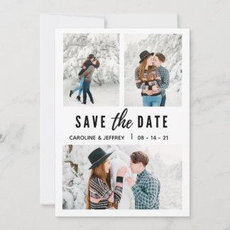modern stylish multi photo save the date