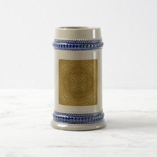 Modern stylish pattern wood coffee mugs