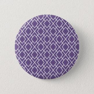 Modern Stylish Purple Diamond Pattern Pinback Button