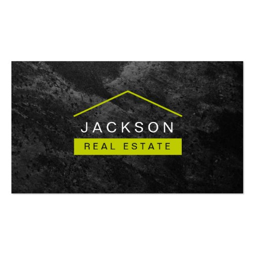 Modern stylish real estate business card zazzle for Modern real estate business cards