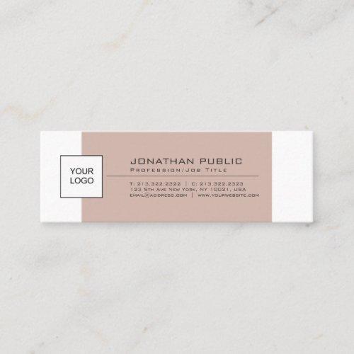 Modern Stylish Simple Plain With Logo Mini Business Card